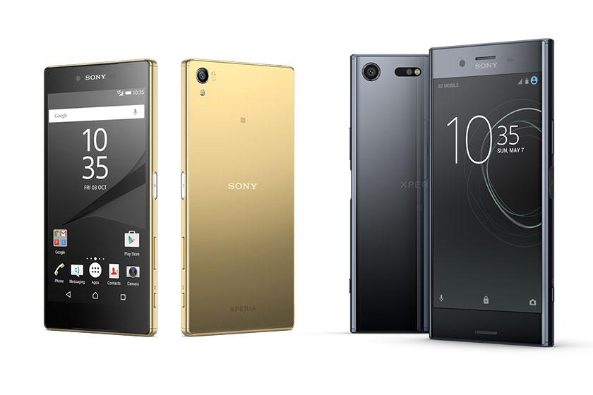 Xperia XZ Premium (מימין) מול Xperia Z5 Premium (תמונות: Sony Mobile)