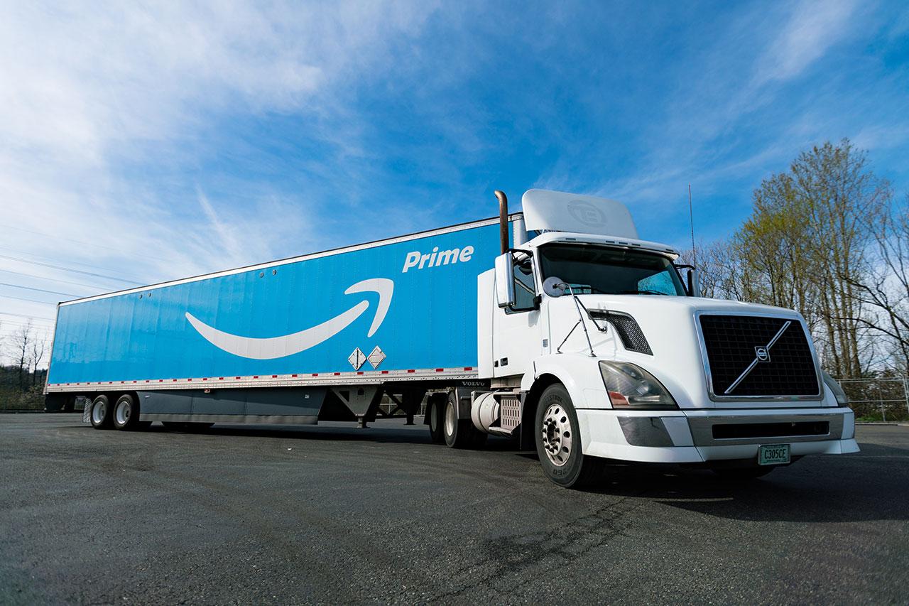 משאית Amazon Prime