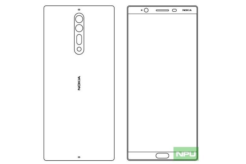 שרטוטים המתיימרים להציג את Nokia 8 (הדלפה)
