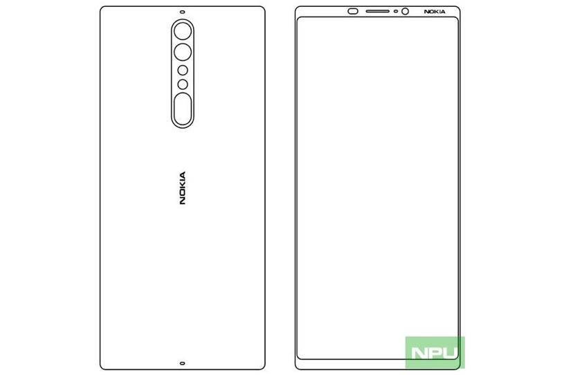 שרטוטים המתיימרים להציג את Nokia 9 (הדלפה)