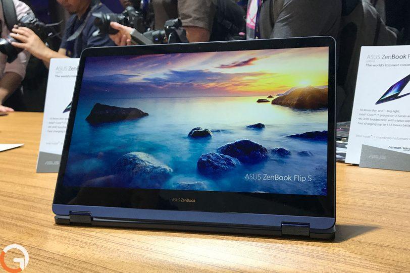 מחשב ASUS Zenbook Flip S דגם 2017 (צילום: רונן מנדזיצקי, גאדג'טי)