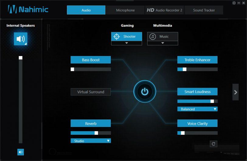 תוכנת שליטה בהגדרות הקול במחשב MSI GE72MVR