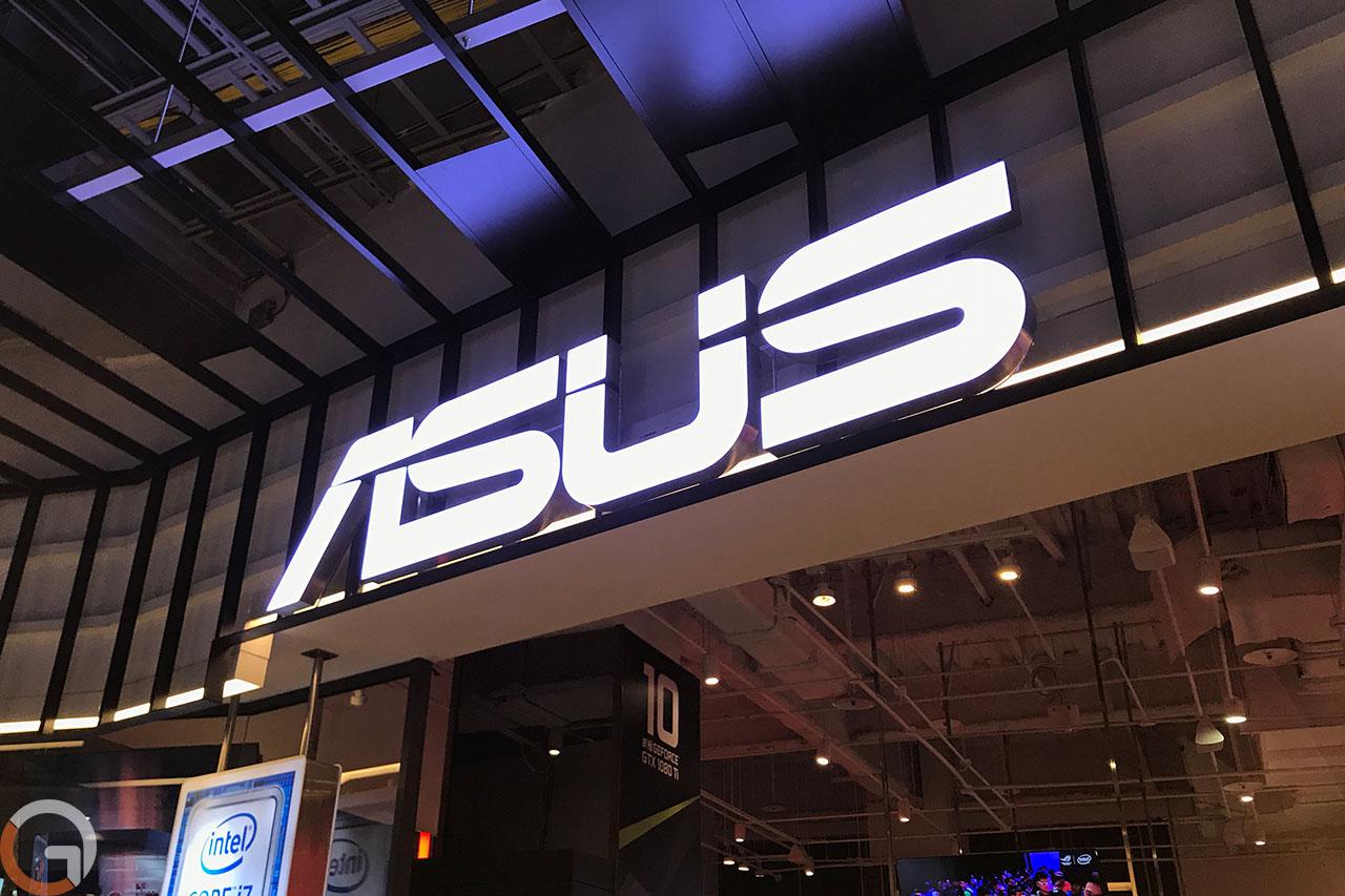 לוגו חברת ASUS (צילום: רונן מנדזיצקי, גאדג'טי)
