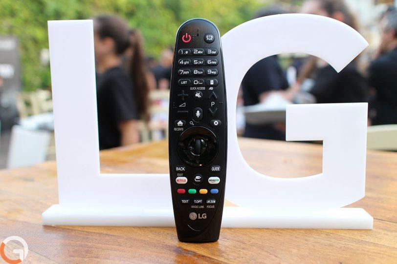 שלט רחוק למסך טלוויזיה LG 2017 (צילום: רונן מנדזיצקי, גאדג'טי)