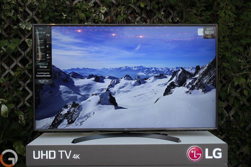 מסך טלוויזיה LG UJ67 (צילום: רונן מנדזיצקי, גאדג'טי)