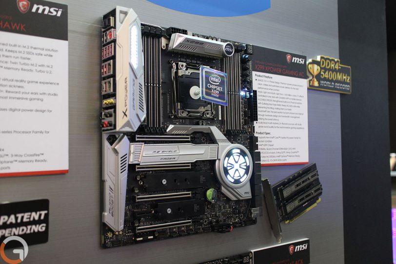 לוח האם MSI Gaming Pro התומך בערכת השבבים Intel X299 (צילום: רונן מנדזיצקי, גאדג'טי)