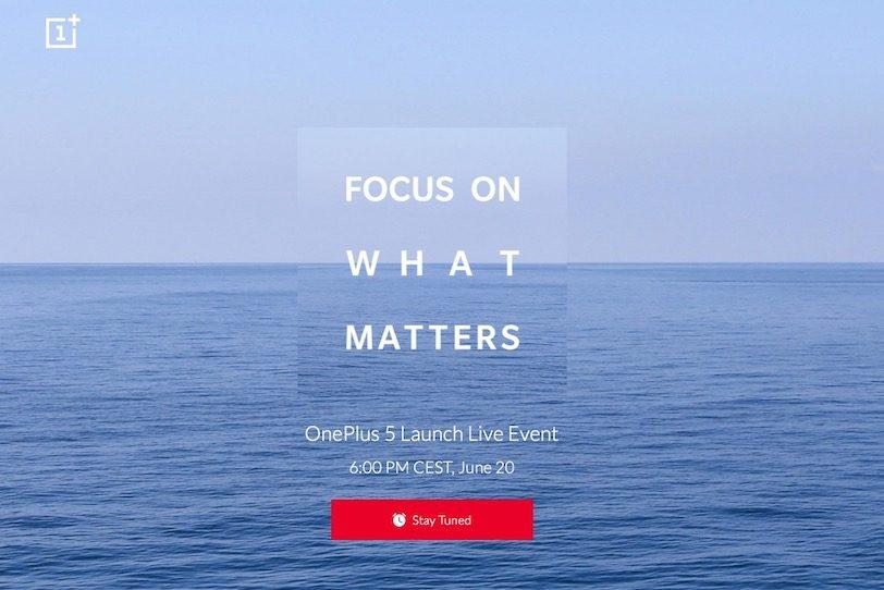 הזמנה לאירוע ההכרזה על ה-OnePlus 5
