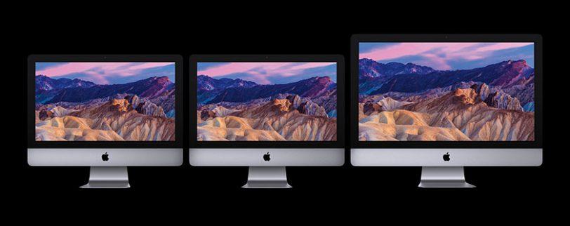 סדרת מחשבי האיימק החדשה לשנת 2017 (תמונה: Apple)