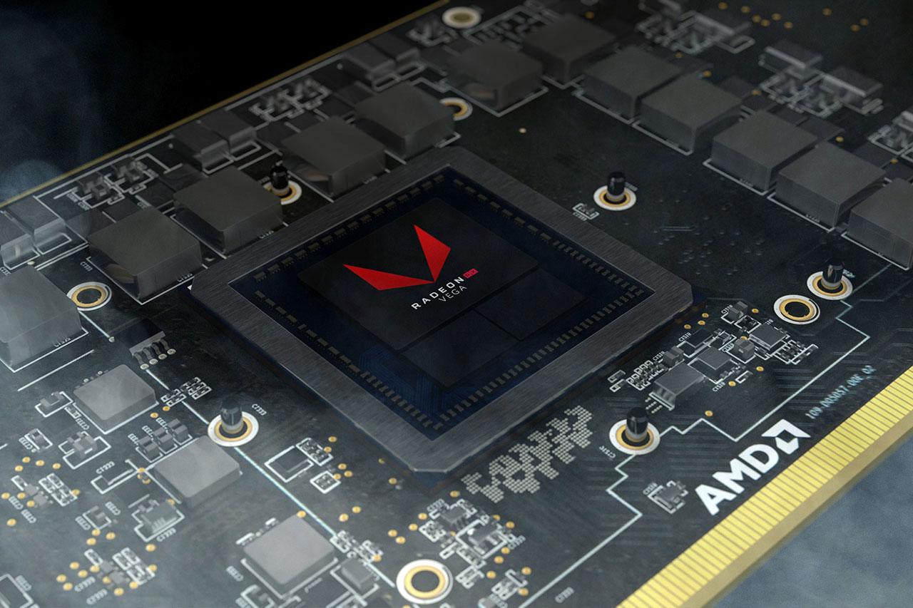 שבב VEGA בכרטיס מסך Radeon RX Vega 64 (תמונה באדיבות AMD)