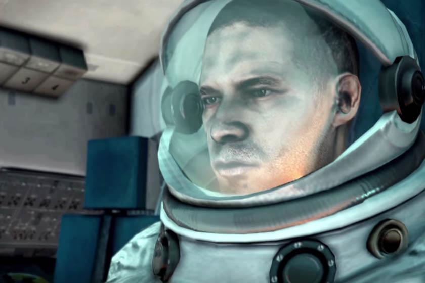 דמות ממשחק GTA V בחליפת חלל