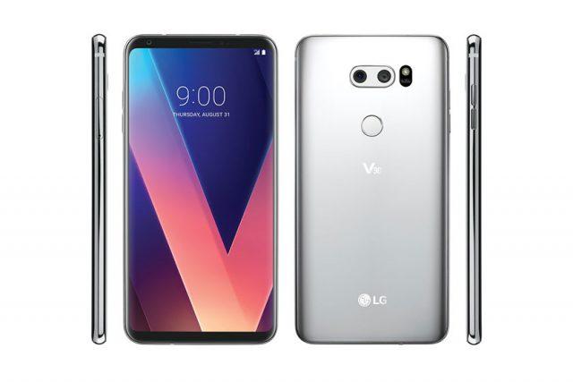 תמונה מודלפת מציגה את LG V30 מכל צדדיו