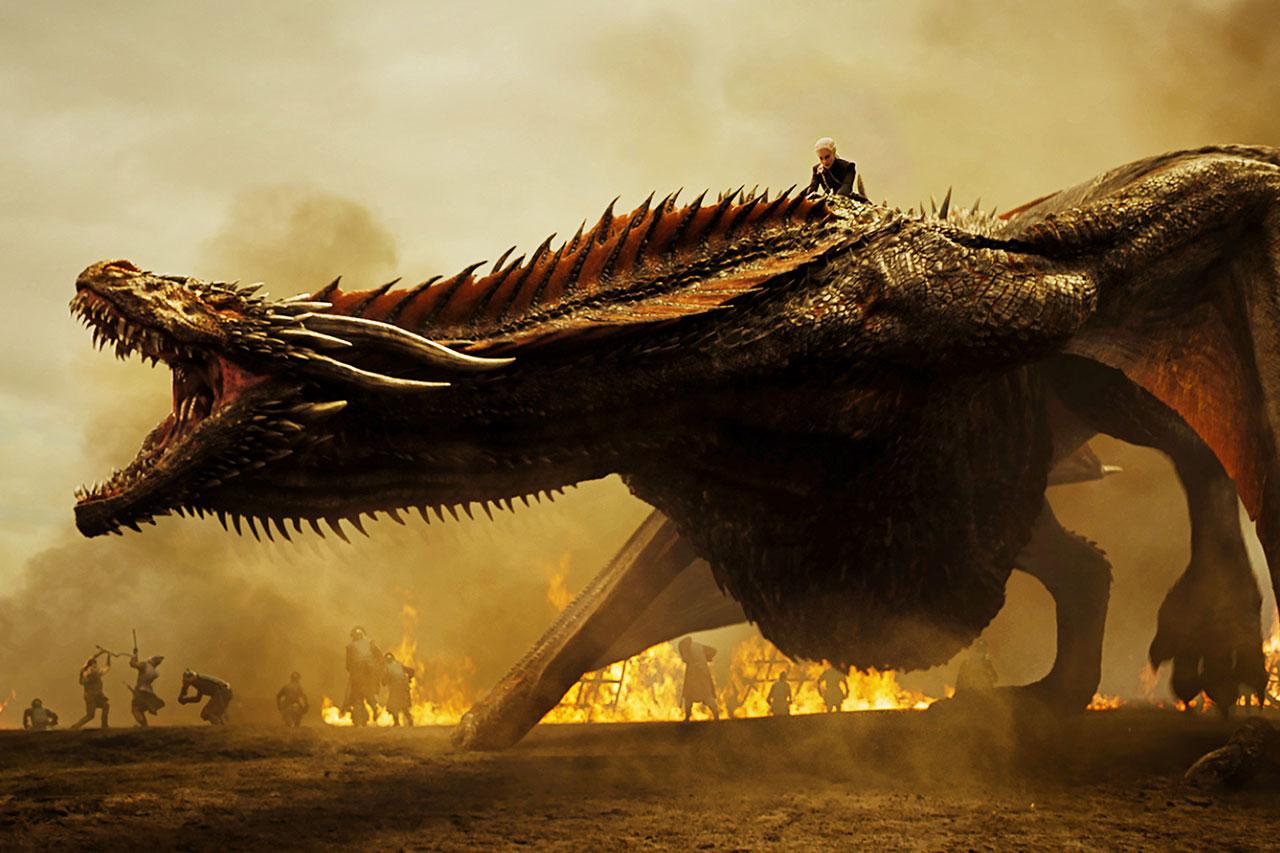 הדרקון של החאליסי, מתוך משחקי הכס (תמונה באדיבות HBO)