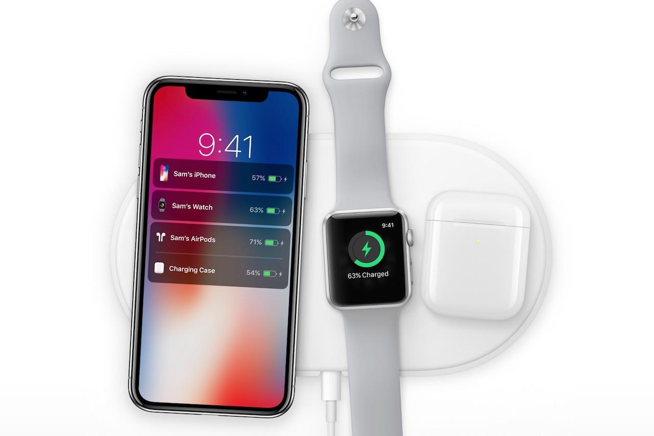 טעינה אלחוטית ב-iPhone X באמצעות AirPower