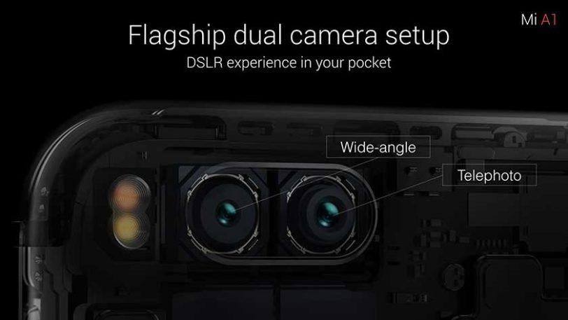 מצלמות ה-Mi A1 (תמונה באדיבות Xiaomi)