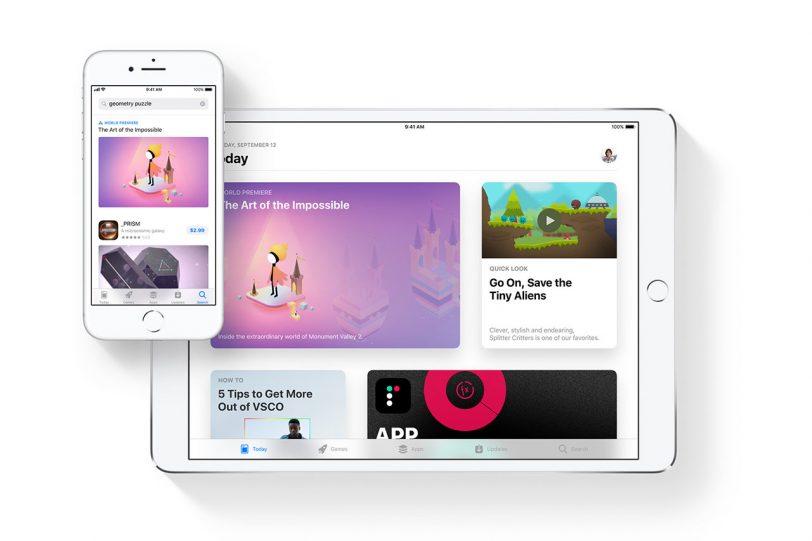האפסטור ב-iOS 11
