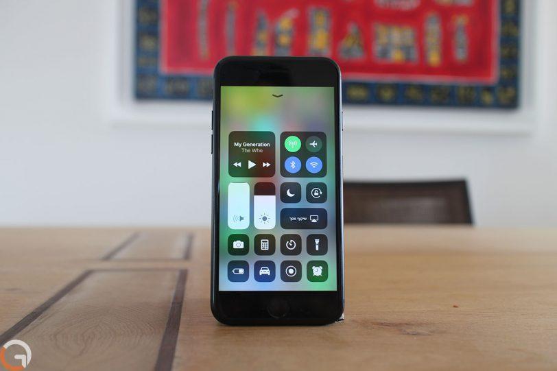 מרכז הבקרה במערכת ההפעלה iOS 11 (צילום: רונן מנדזיצקי, גאדג'טי)