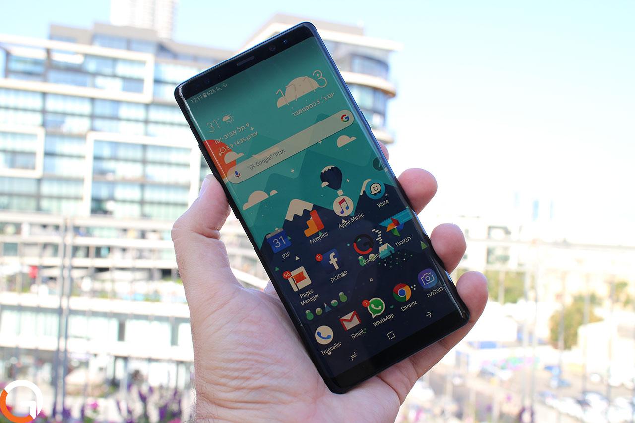 Samsung Galaxy Note 8 (צילום: רונן מנדזיצקי, גאדג'טי)