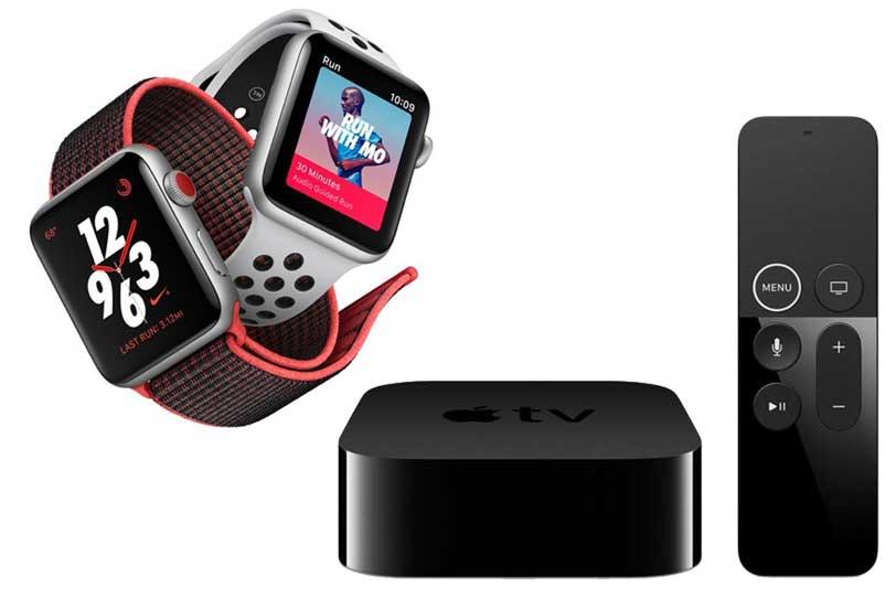 שעון Apple Watch Series 3 ו-Apple TV 4K