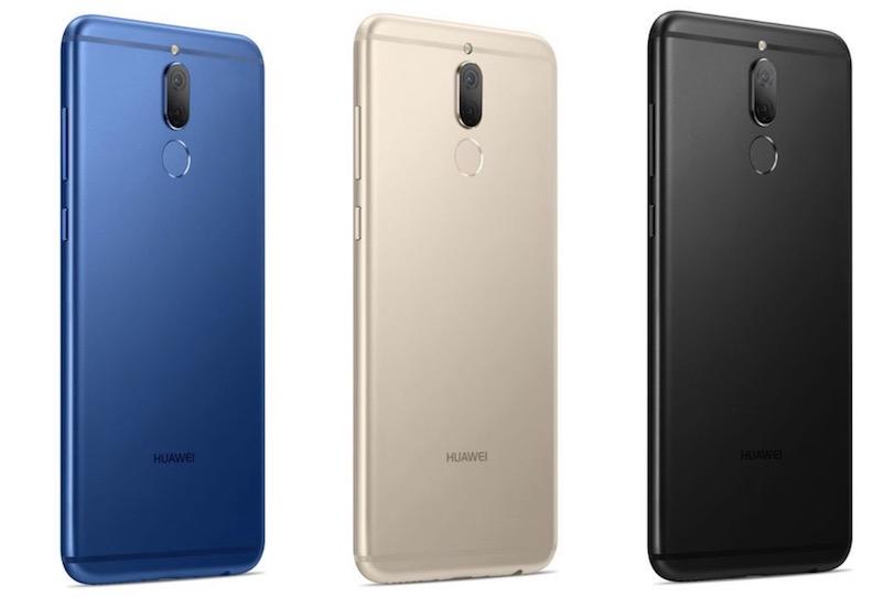 Huawei Nova 2i בצבעים שחור, זהב וכחול