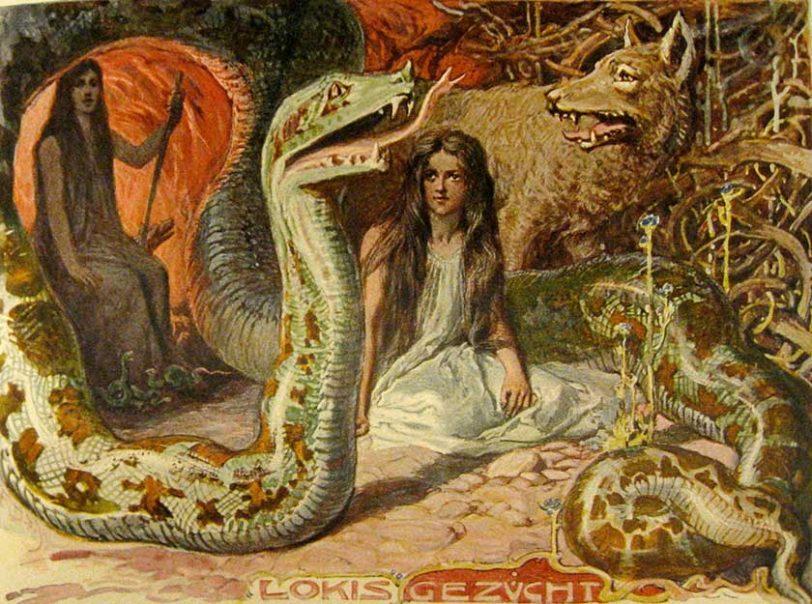 משפחתו של לוקי: הזאב פנריר, הנחש הענק יורמונגנד והלה