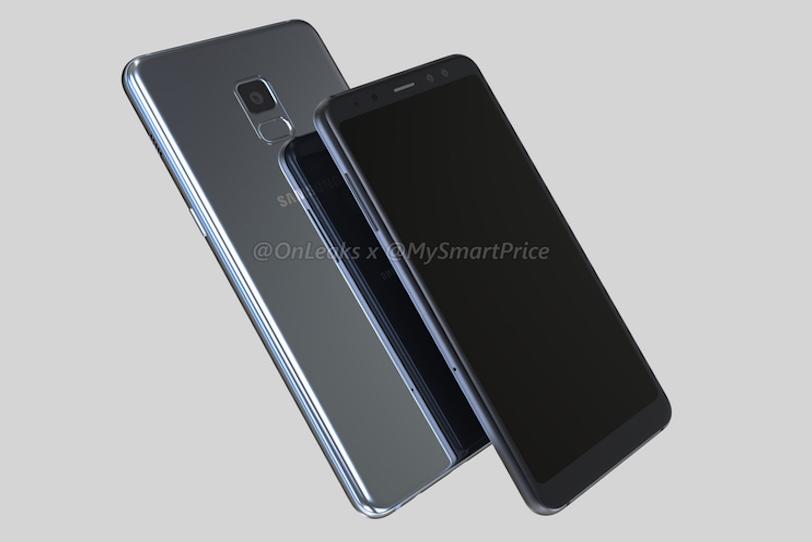 Samsung Galaxy A5 2018 (בשחור) ו-Galaxy A7 2018 (בכסוף)