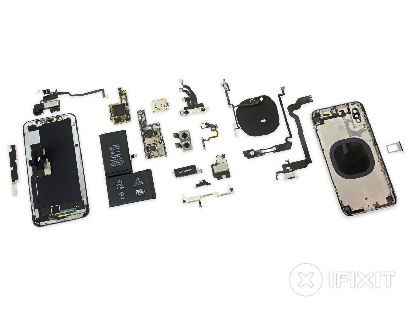 Apple iPhone X מפורק לגורמים (מקור: iFixit)