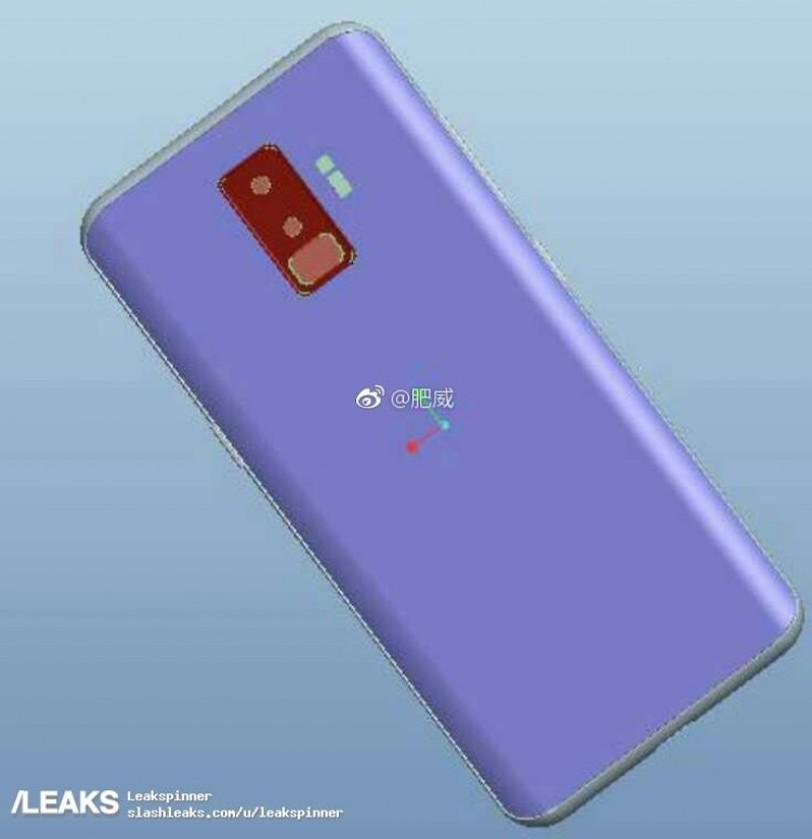 שרטוטי CAD עבור ה-Galaxy S9 (הדלפה)