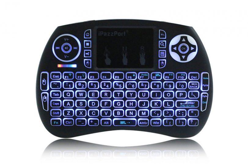 מיני מקלדת אלחוטית iPazzPort 21S בעברית עם תאורה אחורית