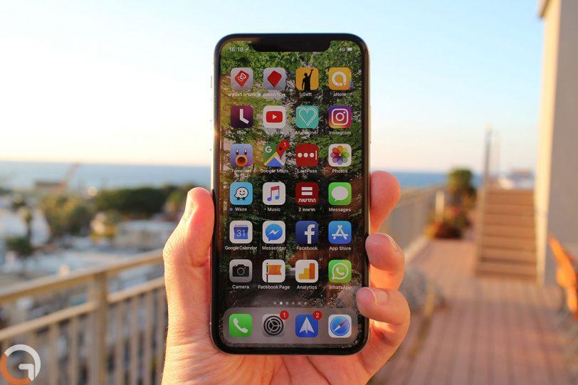 iPhone X (צילום: רונן מנדזיצקי, גאדג'טי)