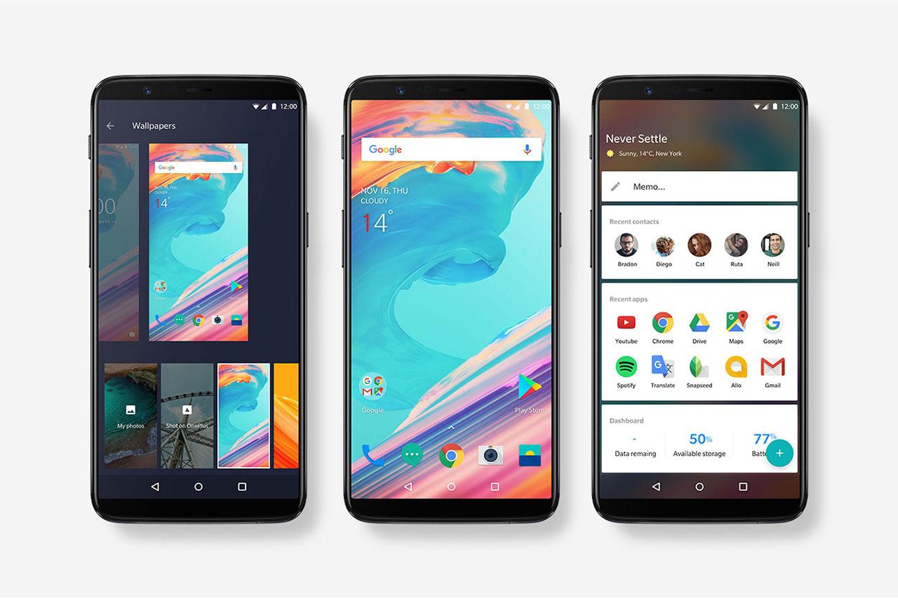 Oxygen OS ב-OnePlus 5T