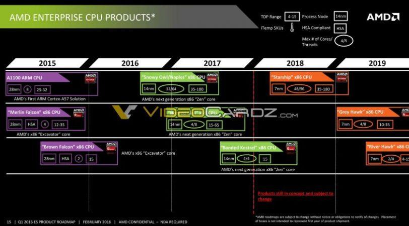 מפת דרכים AMD (מקור videocardz)