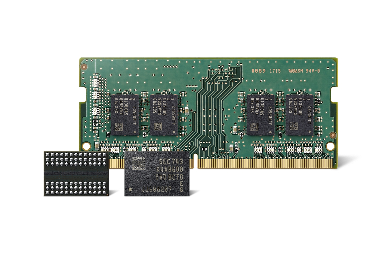 שבבי DRAM בייצור 10nm דור 2 (מקור סמסונג)