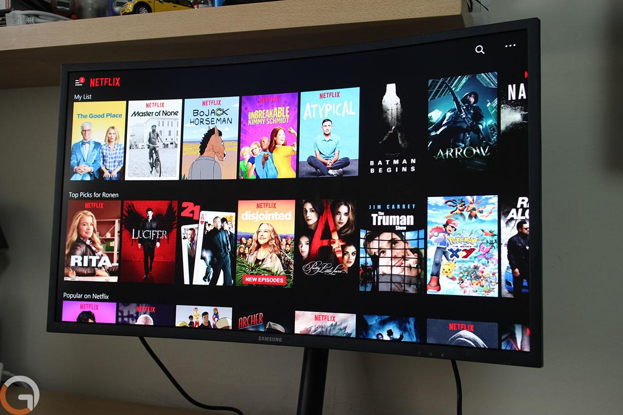מסך Samsung C32HG70QQM (צילום: רונן מנדזיצקי, גאדג'טי)