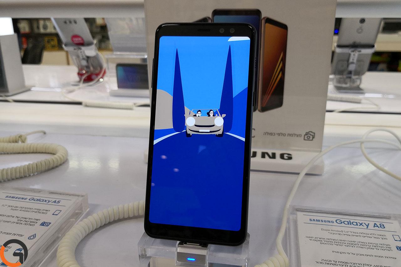 Samsung Galaxy A8 2018 (צילום: רונן מנדזיצקי, גאדג'טי)