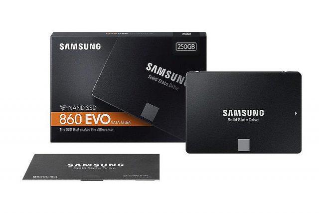 """כונן SSD סמסונג 860 EVO בתצורת 2.5"""""""
