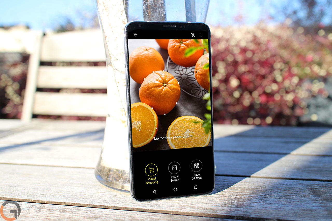 LG V30 עם Vision AI (צילום והדמיה: רונן מנדזיצקי, גאדג'טי. תמונת מסך באדיבות LG)