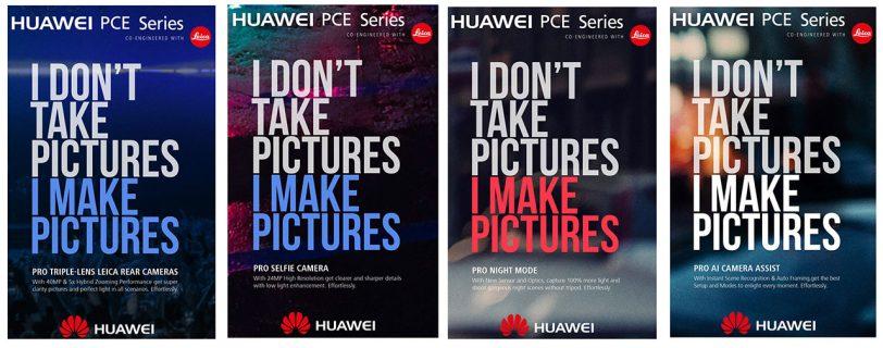 מידע על מצלמות Huawei P20