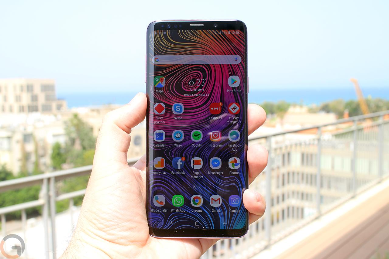 Samsung Galaxy S9 Plus (צילום: רונן מנדזיצקי, גאדג'טי)