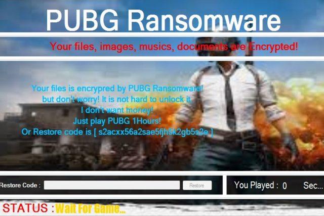 נוזקה חדשה תכריח אתכם לשחק PUBG כדי לשחרר את הקבצים שלכם