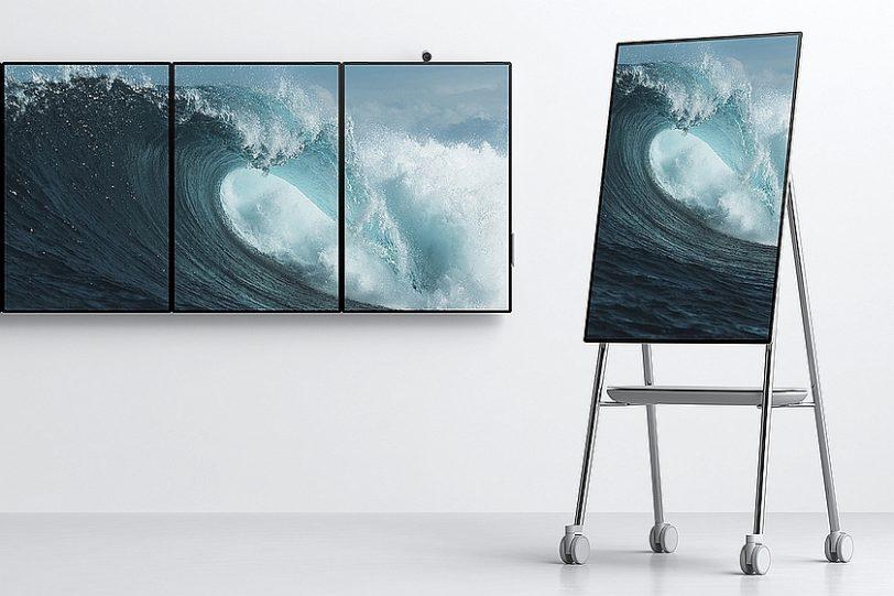 Surface Hub 2 מעמד ותליה (מקור מיקרוסופט)