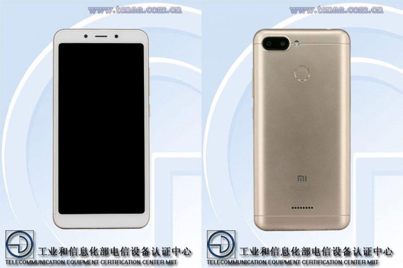 Xiaomi Redmi 6 (תמונה: TENAA)