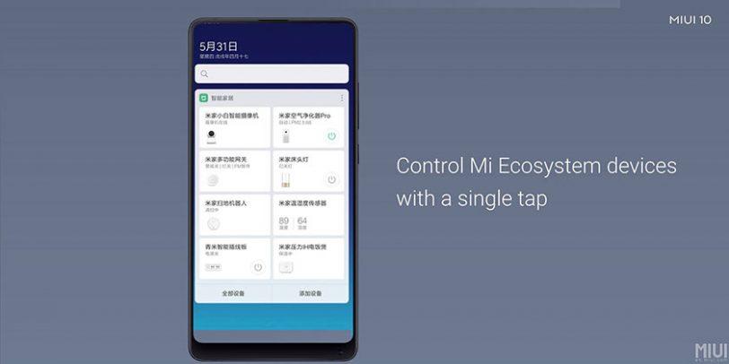 שליטה על מוצרי בית חכם מאפליקציית שיאומי ב-MIUI 10
