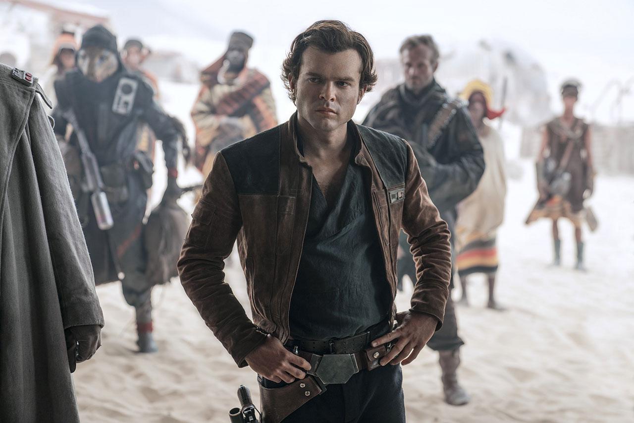 """אלדן ארנרייך כ""""האן סולו"""" מתוך """"סולו: סיפור מלחמת הכוכבים"""" (תמונה באדיבות פורום פילם)"""