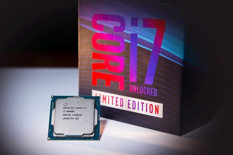 אריזה ומעבד Core i7-8086K (מקור אינטל)