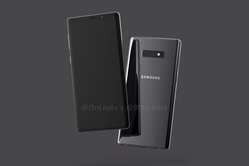 Samsung Galaxy Note 9 (תמונה: 91mobiles/OnLeaks)