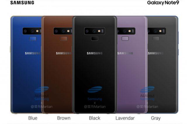 הדלפה: מכשיר ה-Galaxy Note 9 יגיע עם סוללה גדולה יותר ובחמישה צבעים