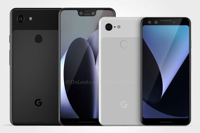Pixel 3 ו-Pixel 3 XL (תמונה: OnLeaks)
