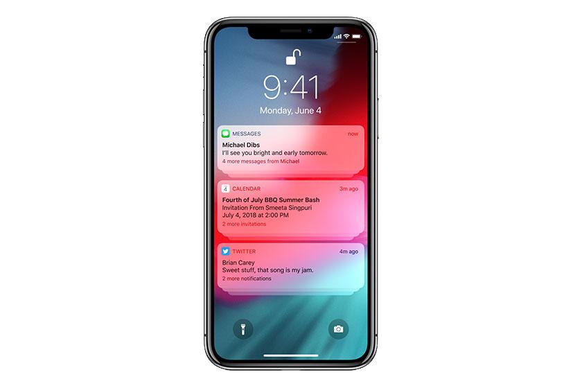 התראות ב-iOS 12 (תמונה: Apple)