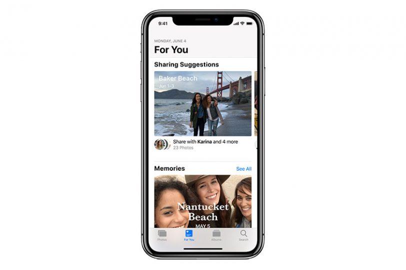 Photos For You ב-iOS 12 (תמונה: Apple)