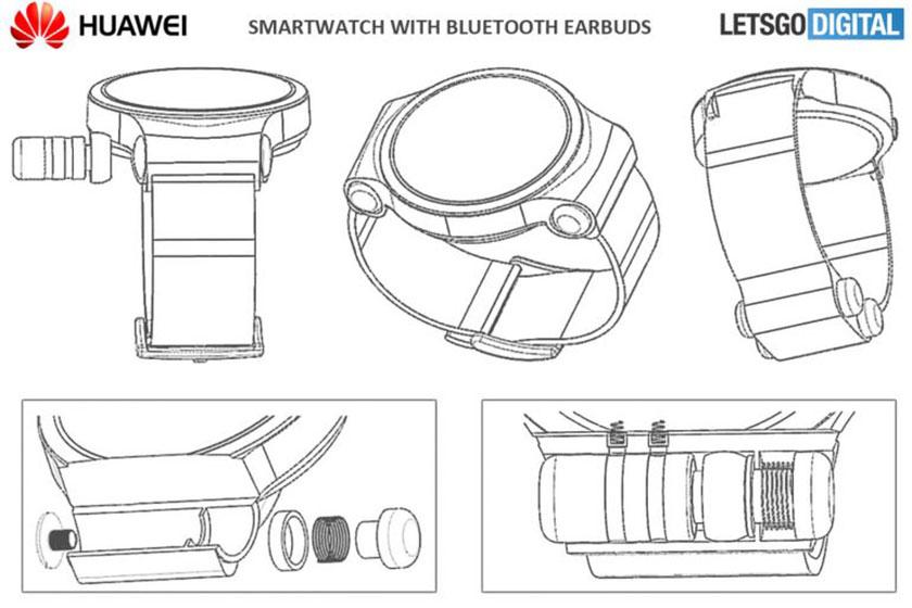 Huawei Watch Patent (תמונה: LetsGoDigital)